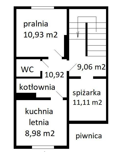 rozkład piwnica - Nieruchomości Krzysztof Górski Zamość, biuro nieruchomości, domy, mieszkania, działki, lokale, sprzedaż nieruchomości, wynajem nieruchomości