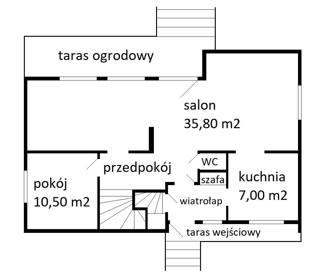 rozkład parter - Nieruchomości Krzysztof Górski Zamość, biuro nieruchomości, domy, mieszkania, działki, lokale, sprzedaż nieruchomości, wynajem nieruchomości