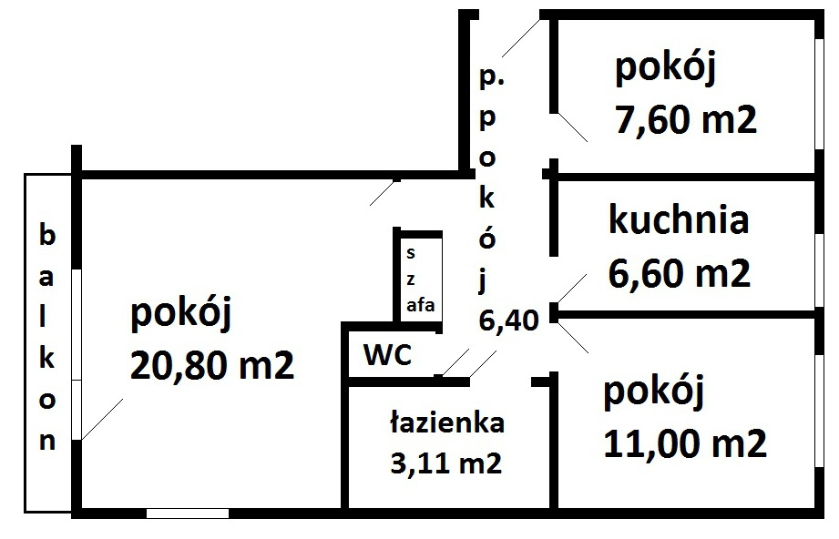 rozkład Piłsudskiego 15A_5 - Nieruchomości Krzysztof Górski Zamość, biuro nieruchomości, domy, mieszkania, działki, lokale, sprzedaż nieruchomości, wynajem nieruchomości